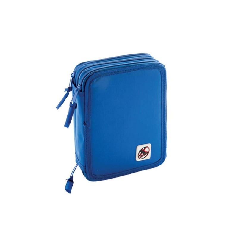 Astuccio 3 Zip 18+18 X-one Blu - MazzeoGiocattoli.it
