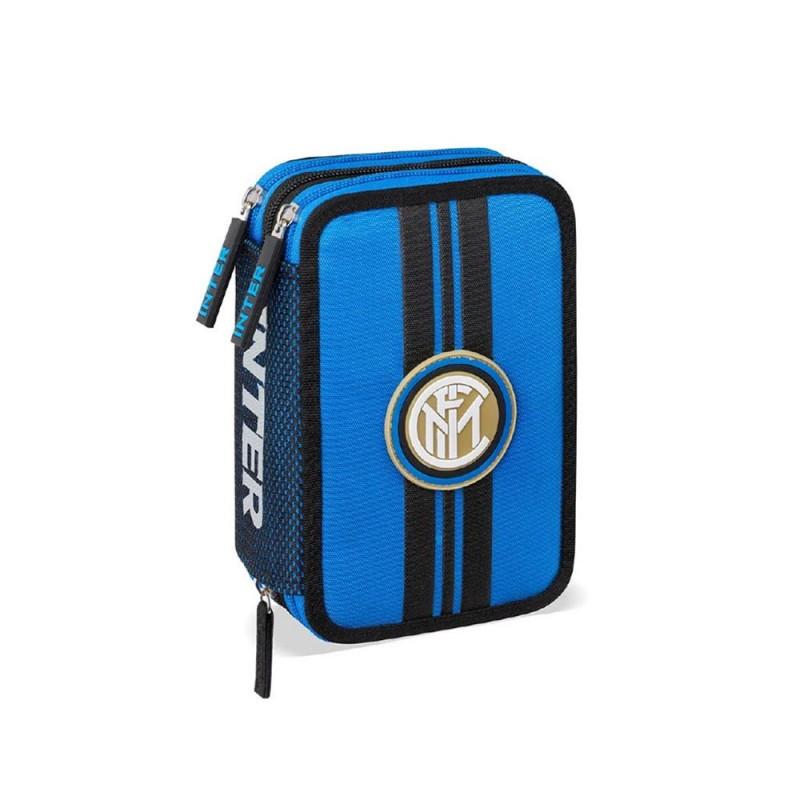 Astuccio 3 Zip Squadra Inter - MazzeoGiocattoli.it
