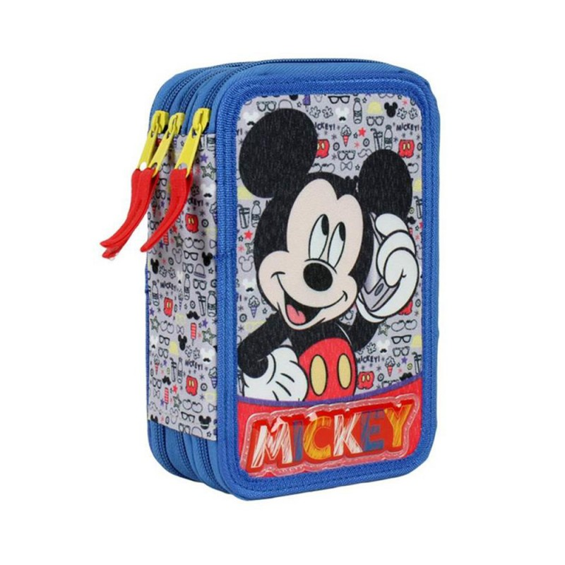 Astuccio 3zip Mickey Mouse - Artesania - MazzeoGiocattoli.it