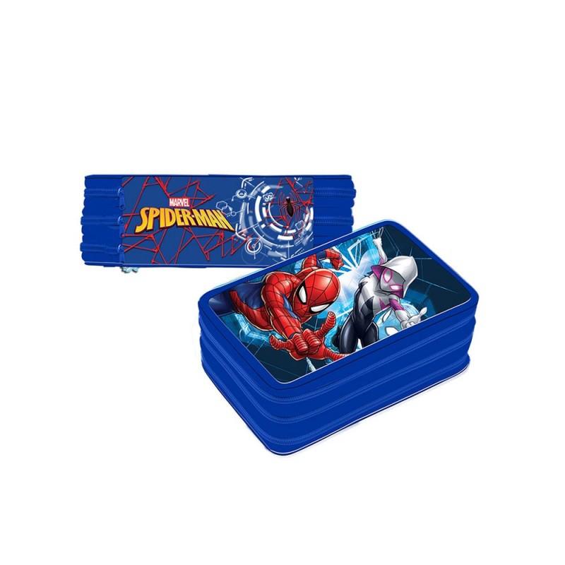 Astuccio Spider Man Attrezzato 3 Scompartimenti  - MazzeoGiocattoli.it