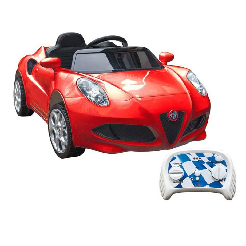 Auto Elettrica Alfa Romeo 4C Rossa - Mazzeo Giocattoli  - MazzeoGiocattoli.it