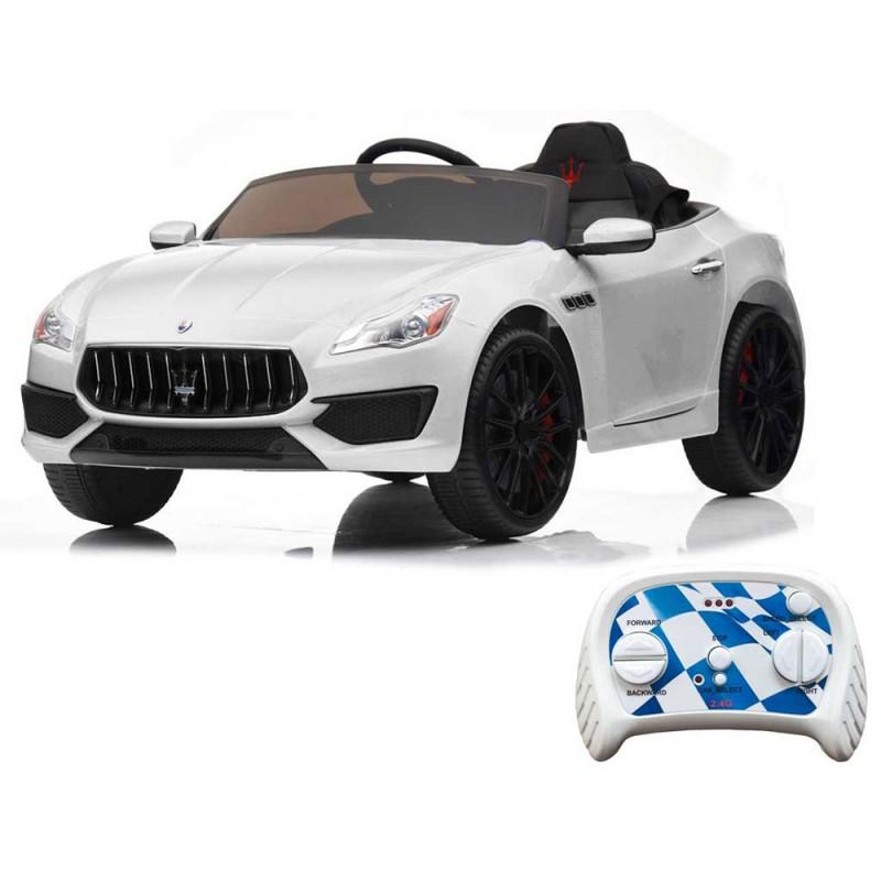 Auto Elettrica Maserati Quattroporte Bianca - Mazzeo Giocattoli  - MazzeoGiocattoli.it