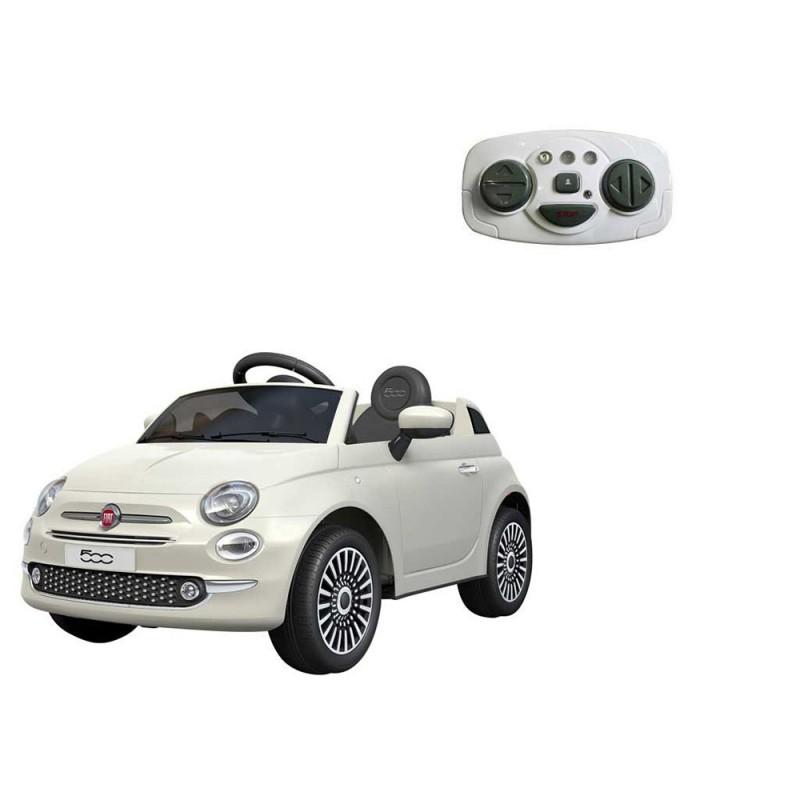 Auto Elettrica Per Bambini Fiat 500 Bianca - Mazzeo Giocattoli - MazzeoGiocattoli.it