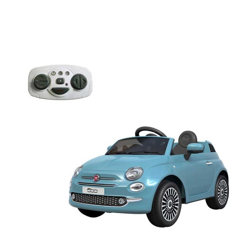 Auto Elettrica Per Bambini Fiat 500 Celeste - Mazzeo Giocattoli - MazzeoGiocattoli.it