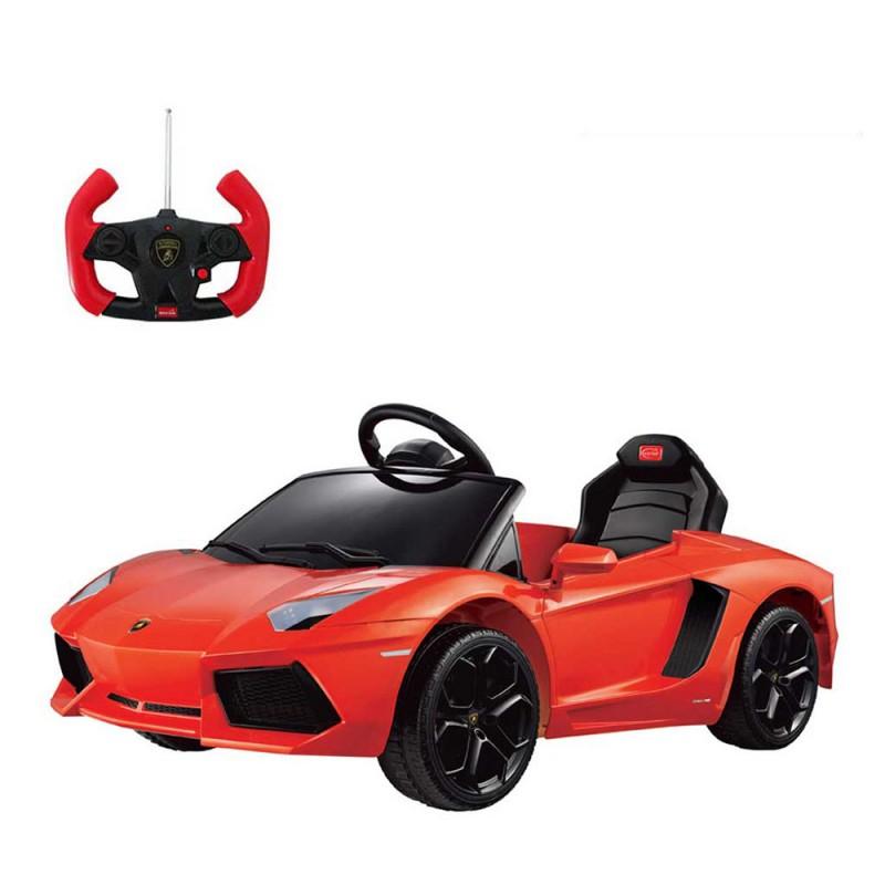 Auto Elettrica Per Bambini Lamborghini Aventador 6v Arancione - MazzeoGiocattoli.it