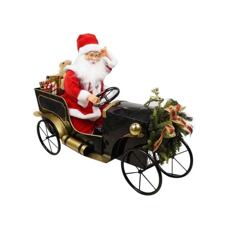 Babbo Natale Animato In Auto D'epoca Con Regali  - MazzeoGiocattoli.it