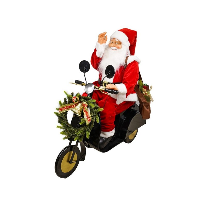 Babbo Natale Animato In Moto Con Regali  - MazzeoGiocattoli.it