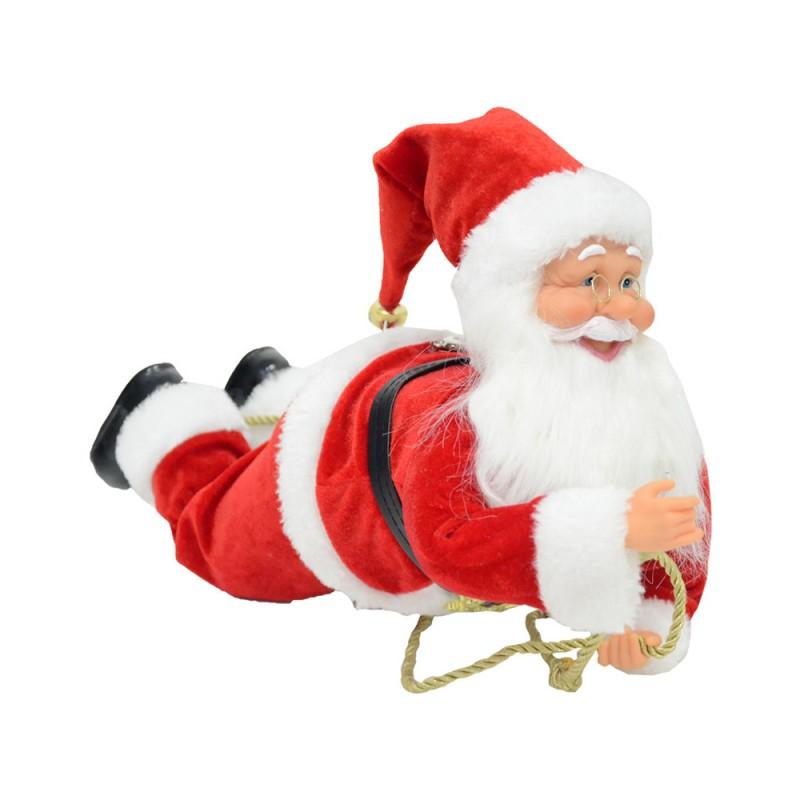 Babbo Natale Arrampicato 45 Cm - MazzeoGiocattoli.it