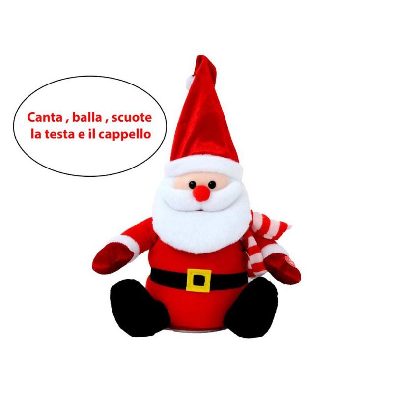 Babbo Natale Con Cappello 27 Cm - MazzeoGiocattoli.it