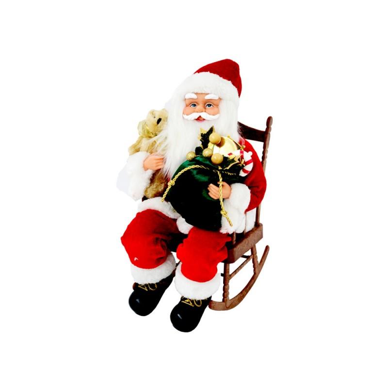 Babbo Natale Con Sedia 40 Cm - MazzeoGiocattoli.it