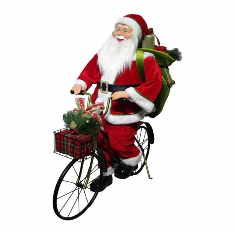 Babbo Natale In Bicicletta 110cm - Mazzeo Giocattoli - MazzeoGiocattoli.it