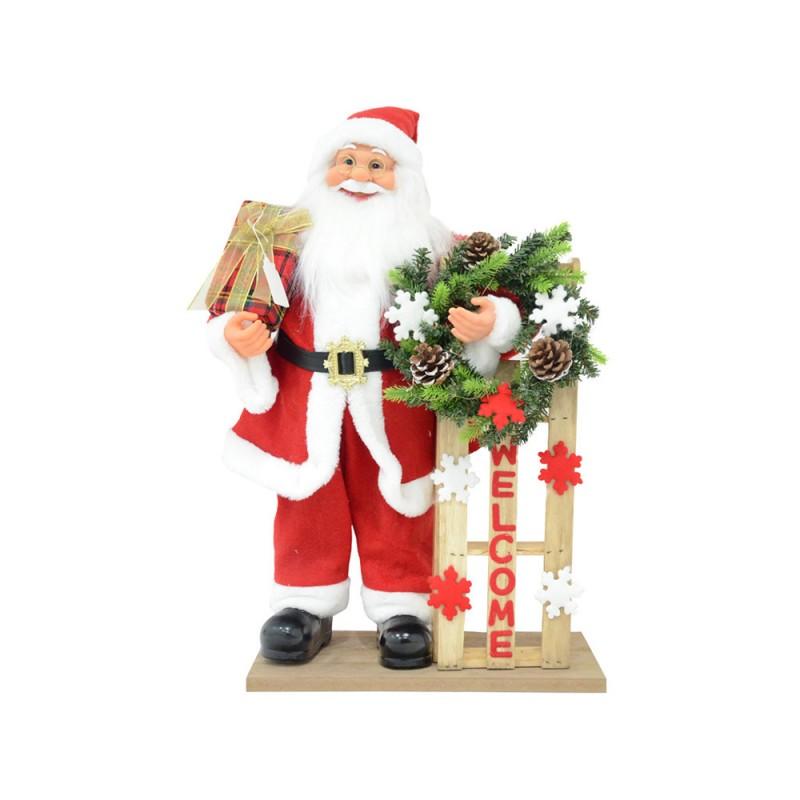 Babbo Natale In Piedi 60cm Con Luci - MazzeoGiocattoli.it
