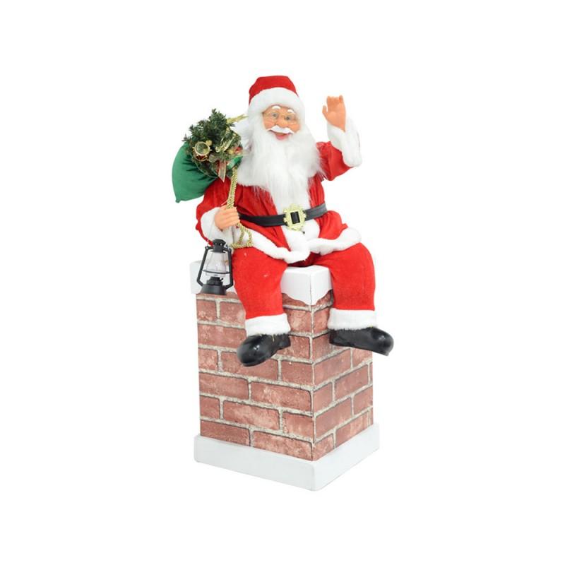 Babbo Natale Seduto Sul Comignolo - MazzeoGiocattoli.it