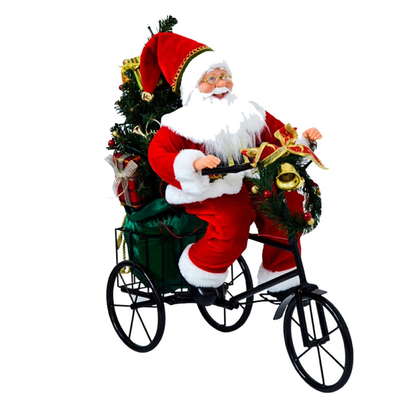 Pupazzo Babbo Natale Su Triciclo . Mazzeo Giocattoli  - MazzeoGiocattoli.it