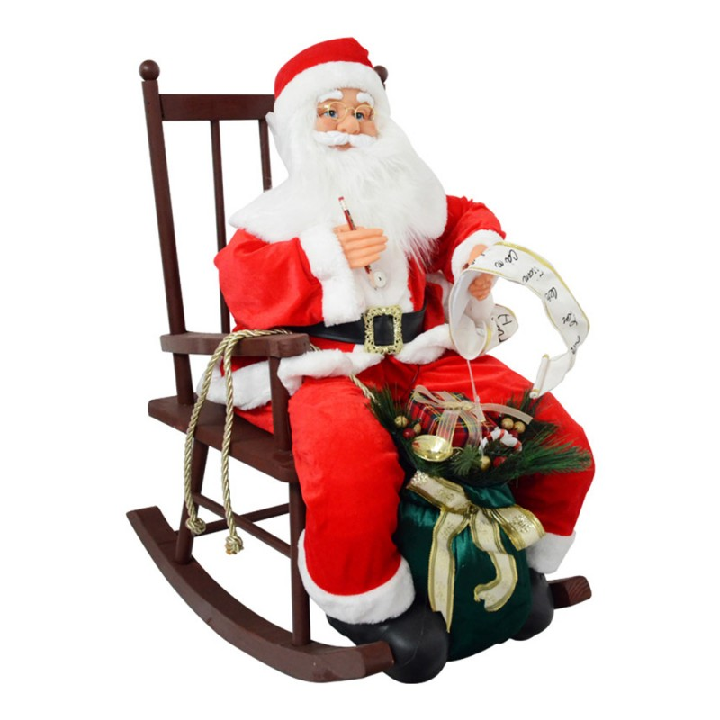Babbo Natale Sulla Sedia - Mazzeo Giocattoli  - MazzeoGiocattoli.it