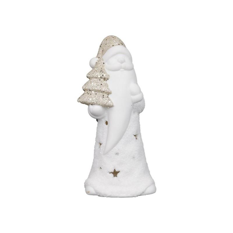 Statua Babbo Natale Con Glitter E Luci  - MazzeoGiocattoli.it