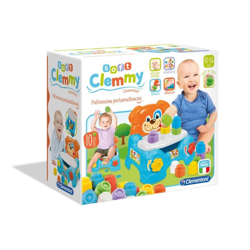 Baby Clemmy Poltroncina Portamattoncini - Clementoni - MazzeoGiocattoli.it