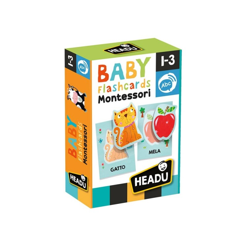 Baby Flashcards Montessori - Headu  - MazzeoGiocattoli.it