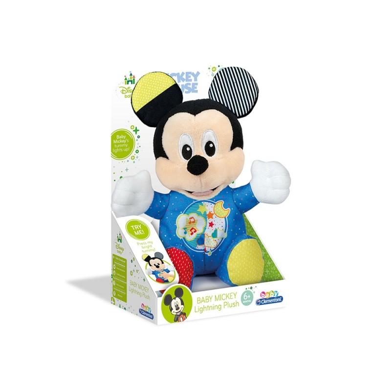 Baby Mickey - Peluche Interattivo Con Luci - Clementoni  - MazzeoGiocattoli.it