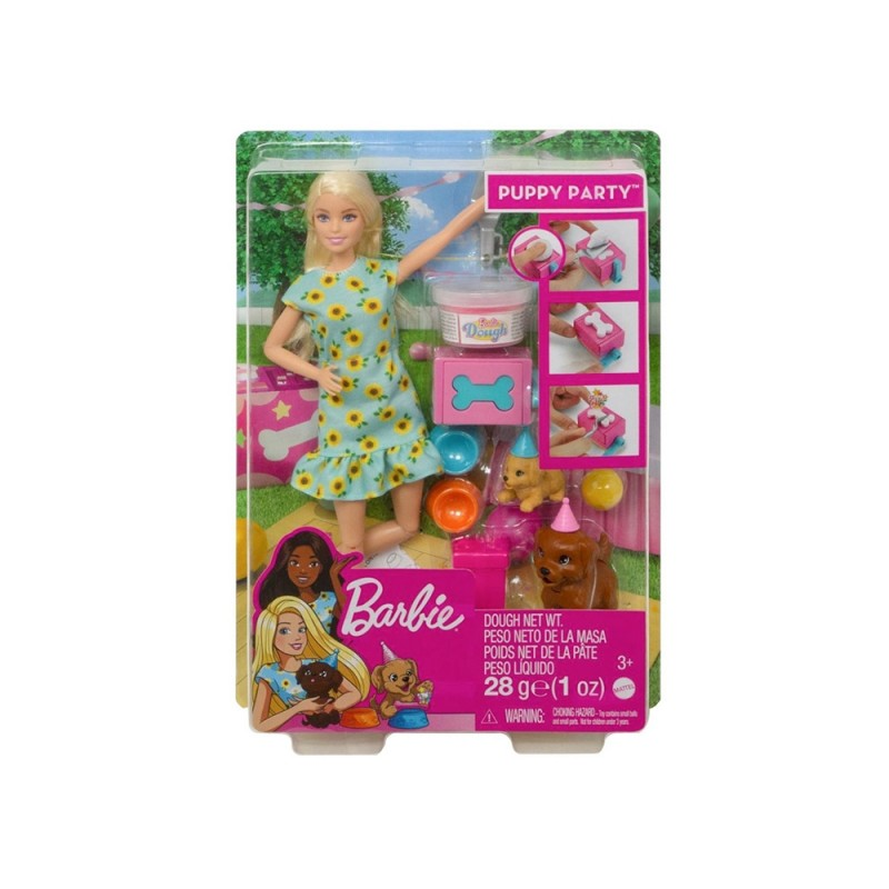 Bambola Barbie Festa Con Cuccioli - Mattel  - MazzeoGiocattoli.it