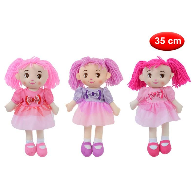 Bambola Di Pezza 35 Cm - Mazzeo Giocattoli - MazzeoGiocattoli.it