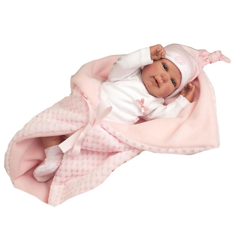 Bambola Reborn Rocio Con Vestito Rosa - Arias  - MazzeoGiocattoli.it