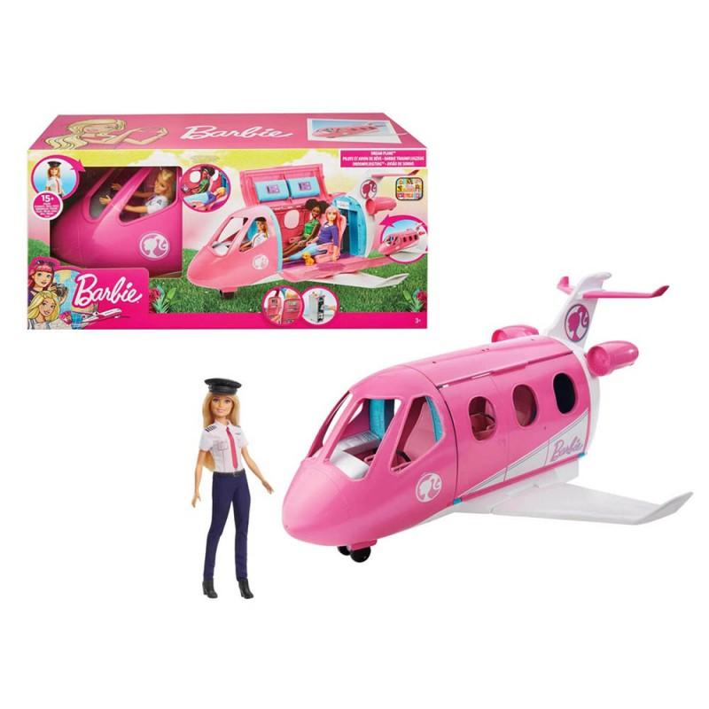 Barbie Aereo Con Pilota - Mattel  - MazzeoGiocattoli.it
