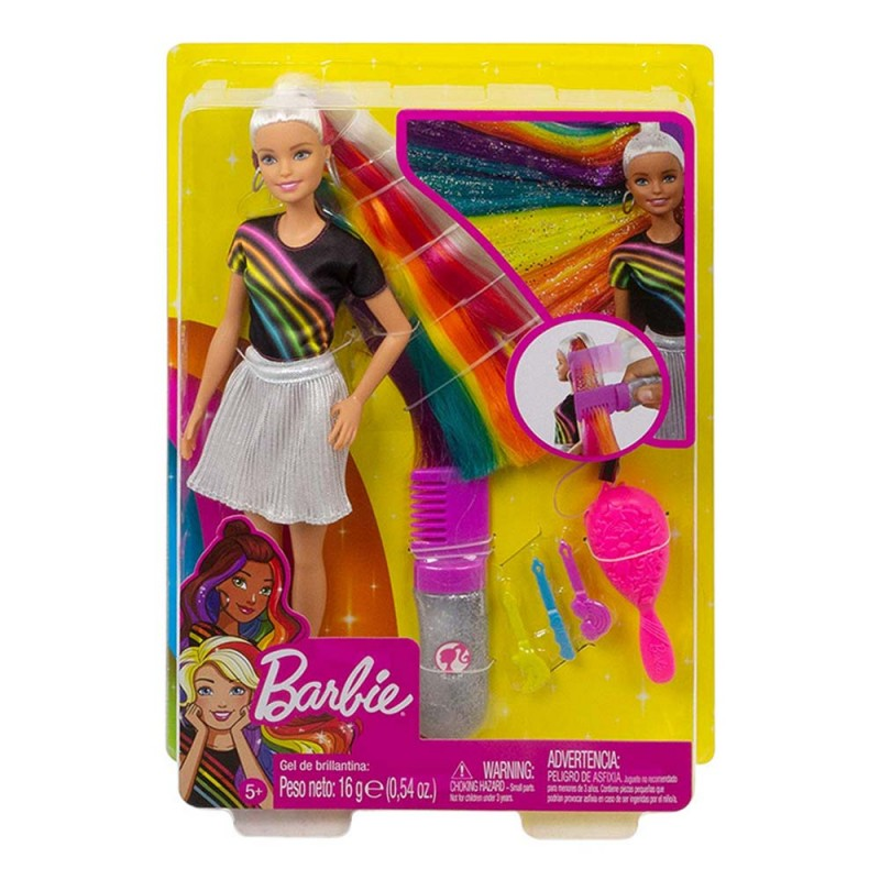 Barbie Capelli Arcobaleno - Mattel  - MazzeoGiocattoli.it