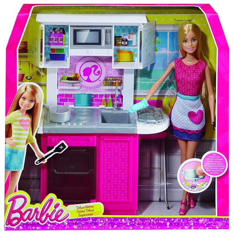 Barbie Con Cucina - Mattel  - MazzeoGiocattoli.it