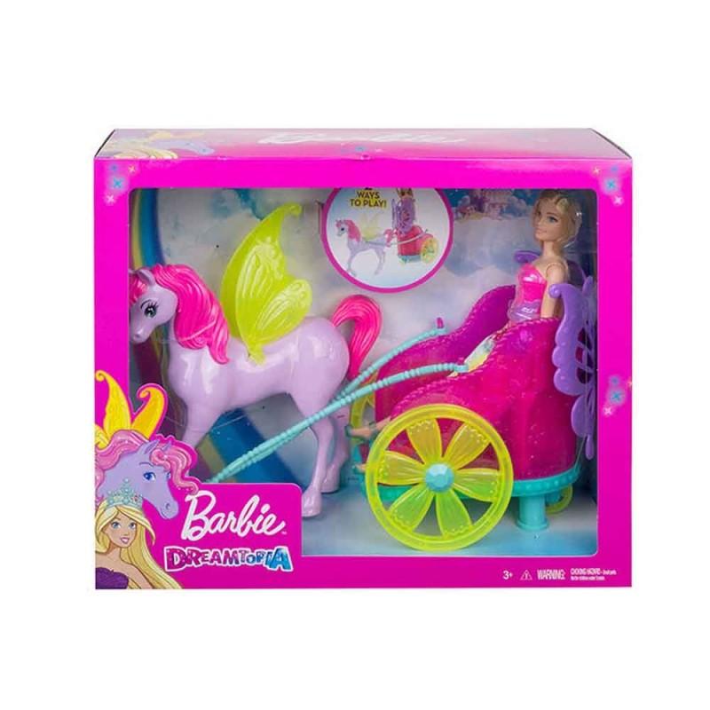 Barbie Dreamtopia Con Cavallo E Carrozza - Mattel  - MazzeoGiocattoli.it