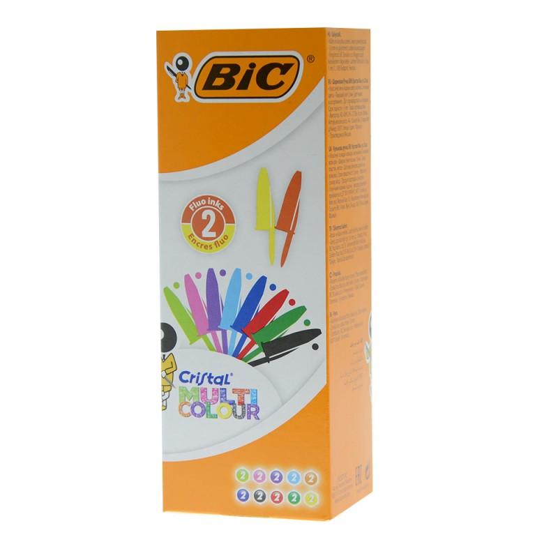 20 Pezzi Penna Bic Cristal Multicolor - MazzeoGiocattoli.it