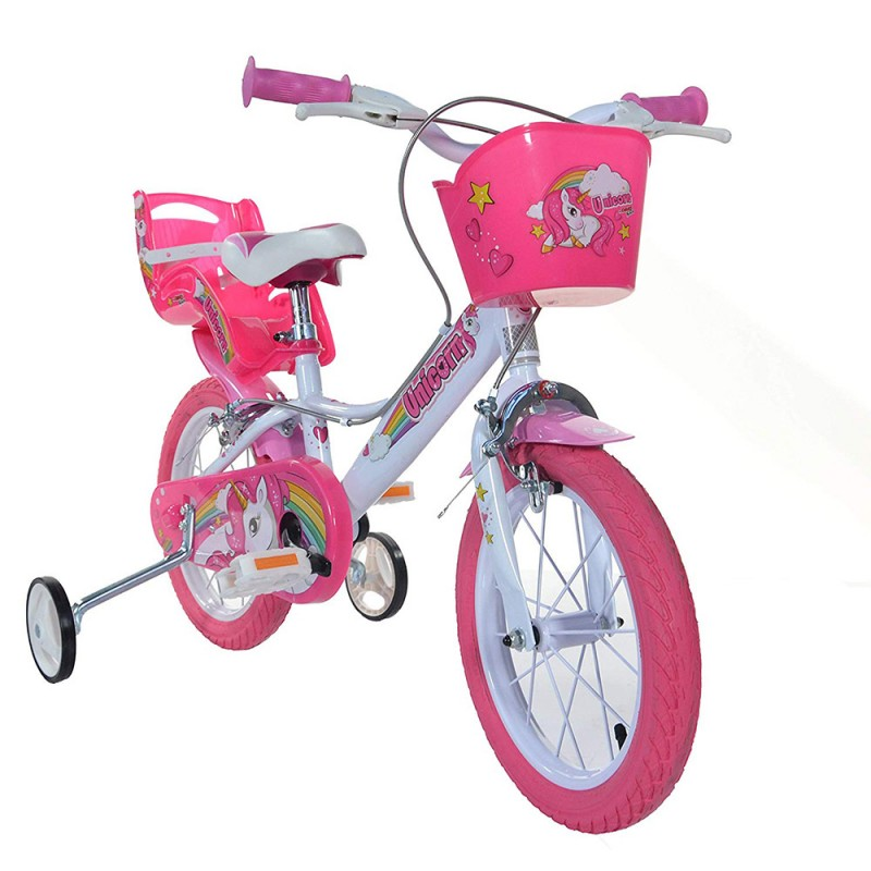 Bici 14 Pollici Unicorn - Dino Bikes - MazzeoGiocattoli.it