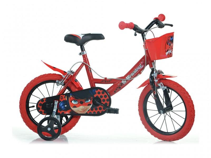 Bicicletta Bimba Miraculous Ruota 14 - Dino Bikes - MazzeoGiocattoli.it