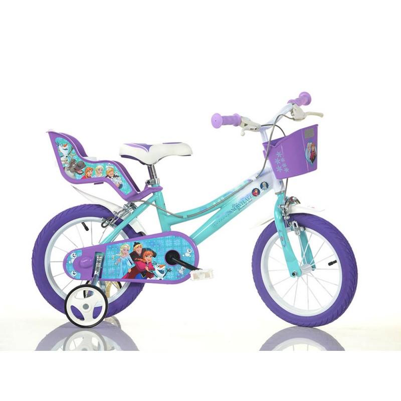 Bicicletta Disney Frozen 14 Pollici - Dino Bikes  - MazzeoGiocattoli.it