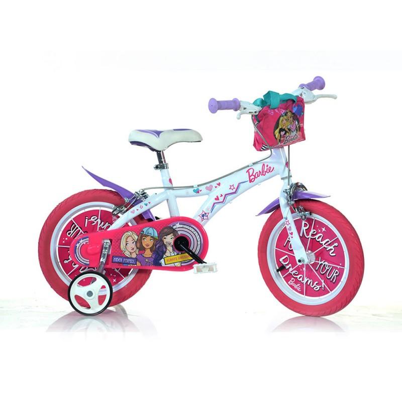 Bicicletta Ruota 14 Barbie Nuovo Modello - Dino Bikes - MazzeoGiocattoli.it