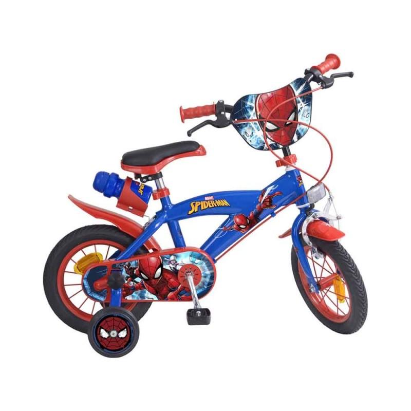 Bicicletta Spider Man Con Borraccia Taglia 12  - MazzeoGiocattoli.it
