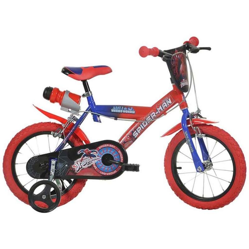 Bicicletta Spiderman Ruota 16 Con Borraccia   - MazzeoGiocattoli.it