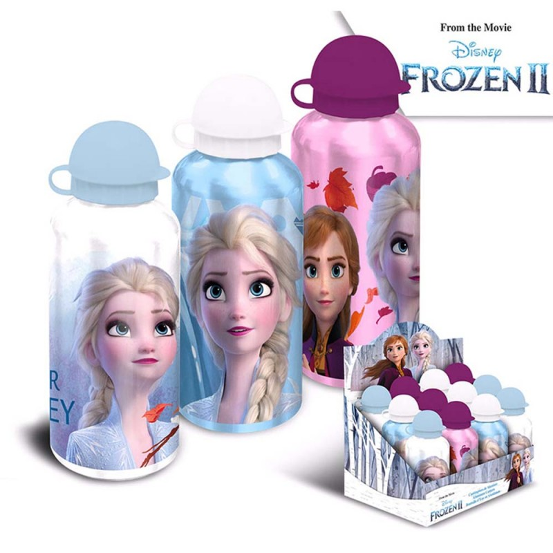 Borraccia Alluminio Frozen 500ml  - MazzeoGiocattoli.it