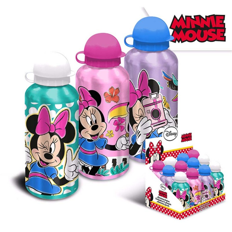 Borraccia Alluminio Minnie 500ml  - MazzeoGiocattoli.it