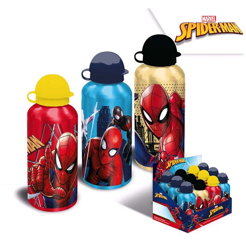Borraccia Alluminio Spiderman 500ml  - MazzeoGiocattoli.it
