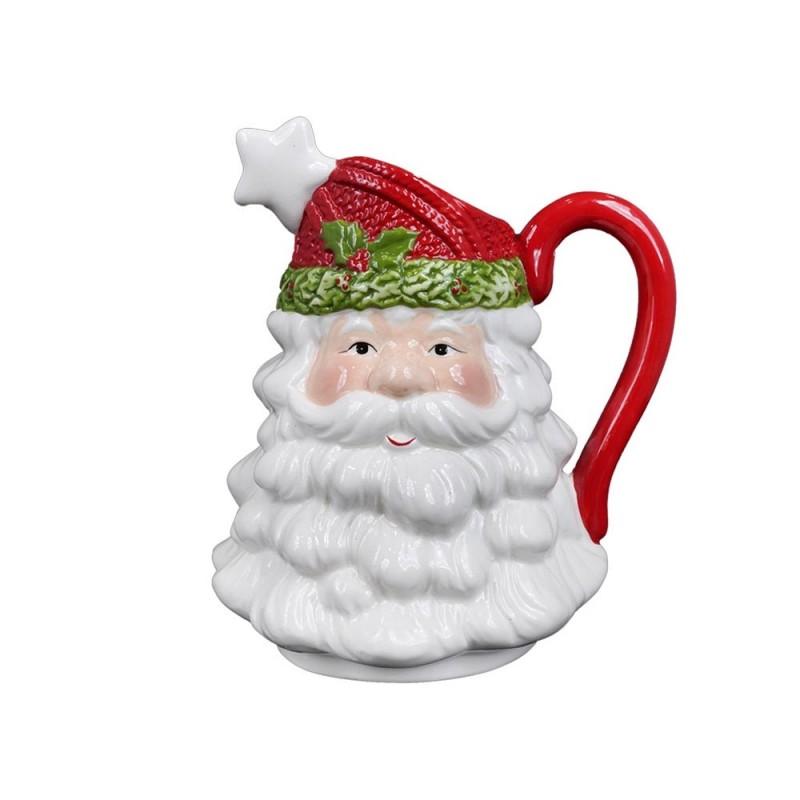 Brocca Decorativa A Forma Di Babbo Natale  - MazzeoGiocattoli.it
