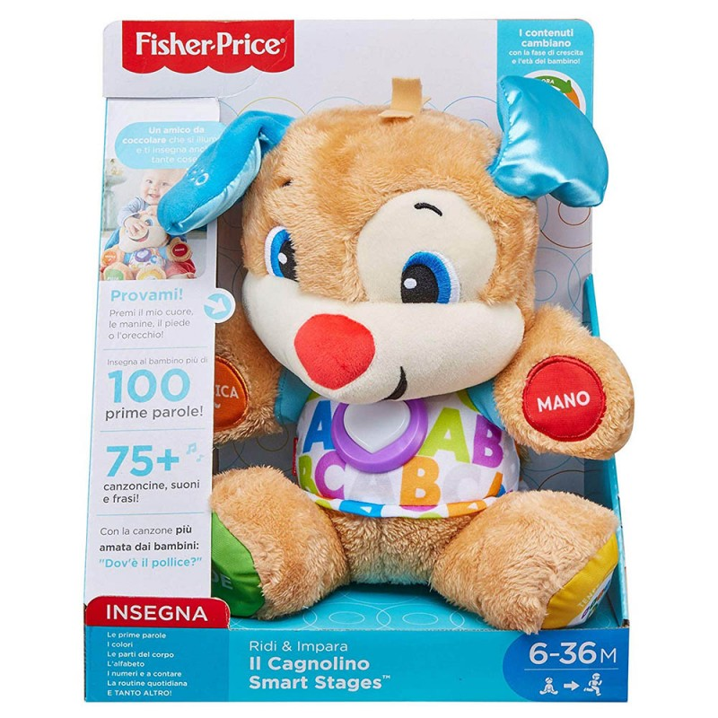 Peluche Il Cagnolino Smart Stages New - Fisher Price  - MazzeoGiocattoli.it