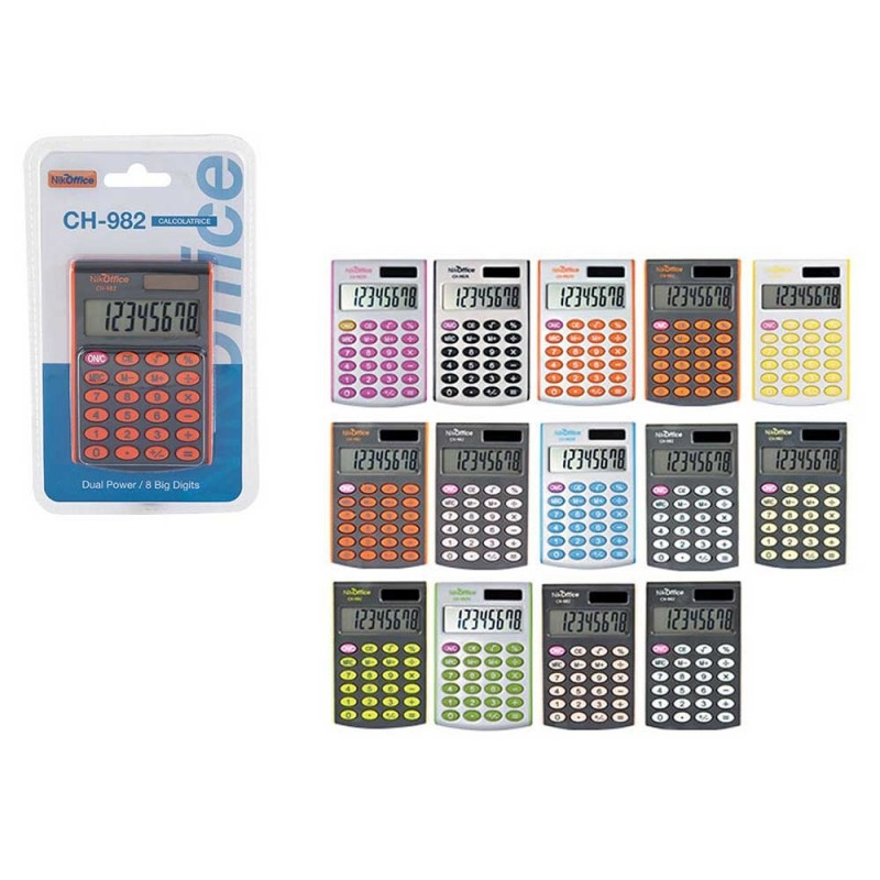 Calcolatrice Da Tavolo 8 DIGITS CH-982 BLISTER - Nikoffice  - MazzeoGiocattoli.it