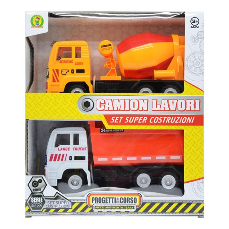 Playset Due Camion Da Lavoro - Mazzeo Giocattoli  - MazzeoGiocattoli.it
