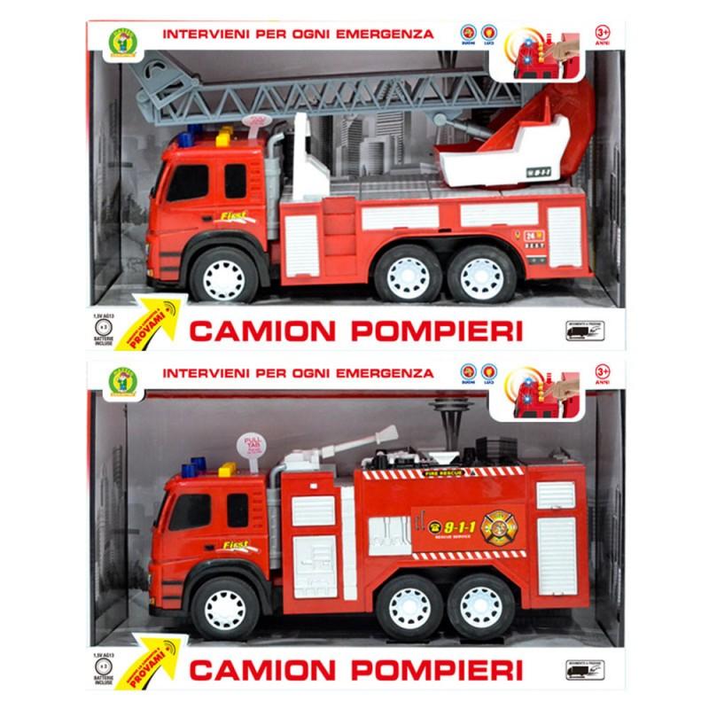 Modellino Camion Pompieri Con Luci - Mazzeo Giocattoli  - MazzeoGiocattoli.it
