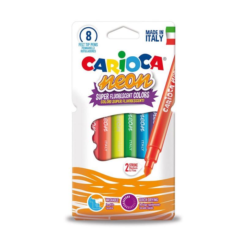 Otto Pennarelli Neon - Carioca - MazzeoGiocattoli.it