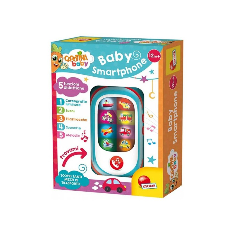 Carotina Baby Smartphone - Lisciani  - MazzeoGiocattoli.it