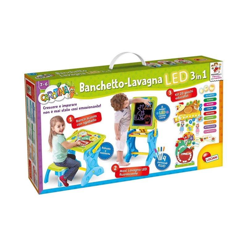 Carotina Banchetto-Lavagna LED 3-1 - Lisciani  - MazzeoGiocattoli.it