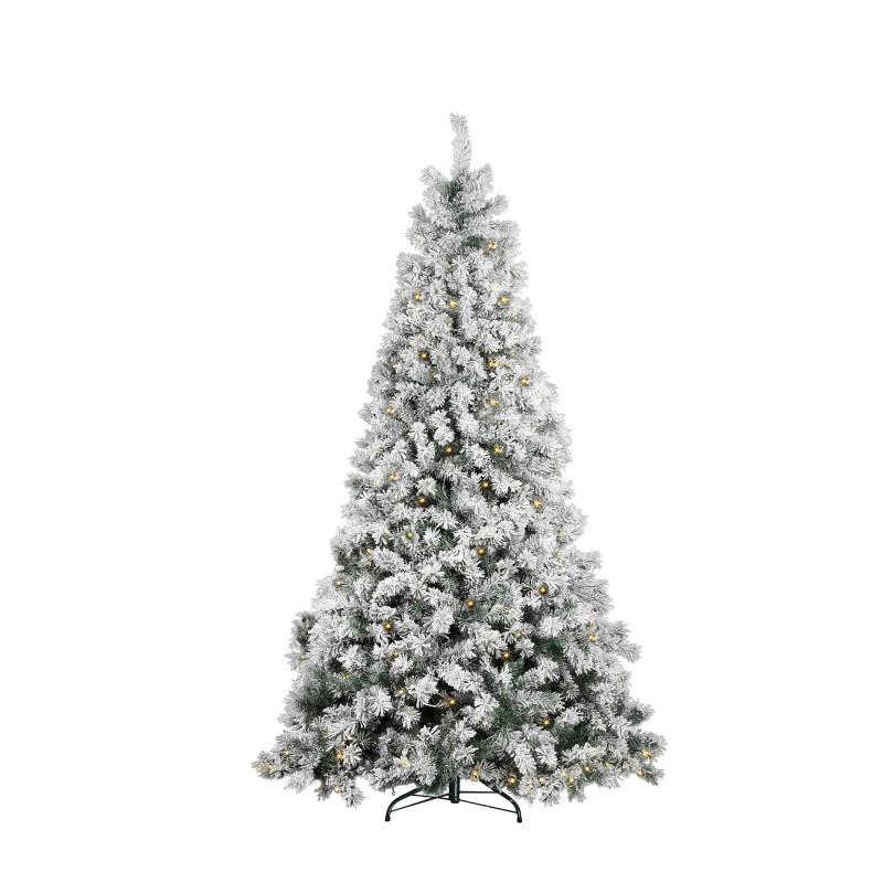 Albero Di Natale Modello Castagno Innevato Con Luci Cm 180  - MazzeoGiocattoli.it