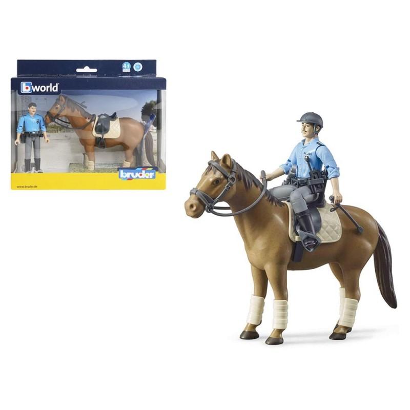 Cavallo Con Fantino Della Polizia - Bruder  - MazzeoGiocattoli.it